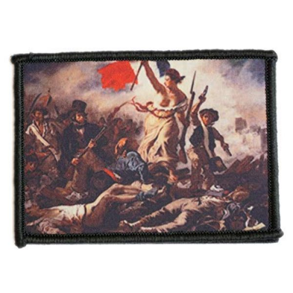WAPPEN-YA DONGRI Airsoft Morale Patch 1 Morale Patch Hook and Loop Liberty Leading The People Delacroix A0519