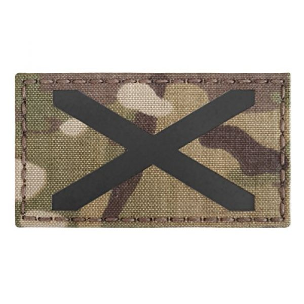 Tactical Freaky Airsoft Morale Patch 5 Multicam Infrared IR Alabama Flag Scotland 3.5x2 IFF Tactical Morale Fastener Patch