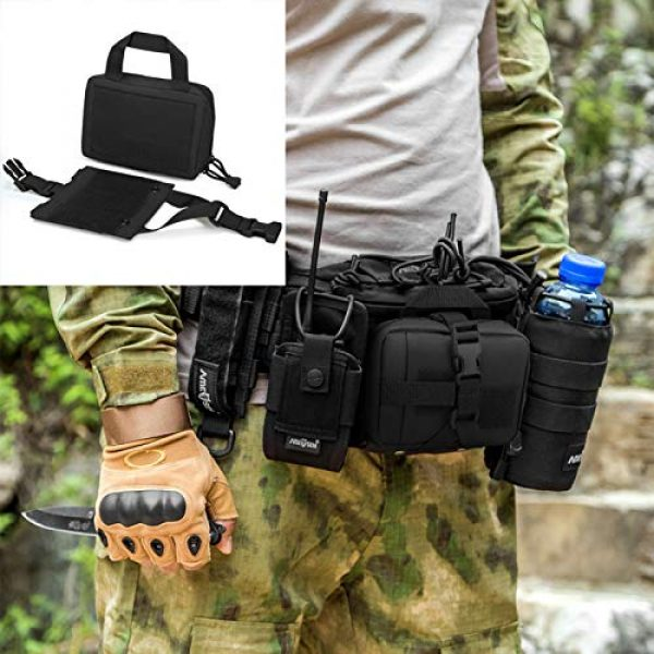 BAIGIO Tactical Pouch 7 Small Tactical Pouch MOLLE System First Aid Kit Bag IFAK Medical Utility Bag Pocket for Home Workplace Outdoor