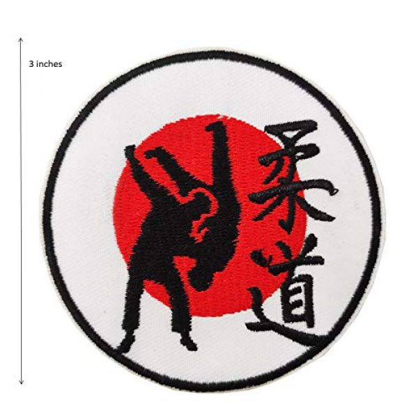 """Cute-Patch Airsoft Morale Patch 2 3"""" Judo Symbol Embroidered Iron on sew on Patch Martial Arts Accessories Applique"""