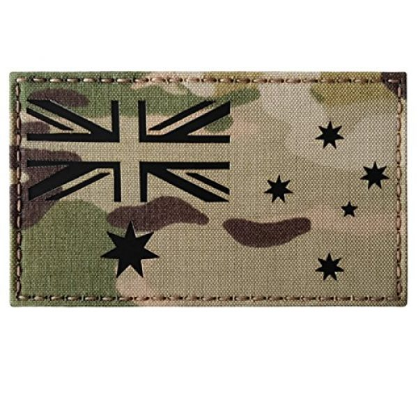 Tactical Freaky Airsoft Morale Patch 5 Big 3x5 Multicam Infrared IR Australia Flag IFF Tactical Morale Hook-and-Loop Patch