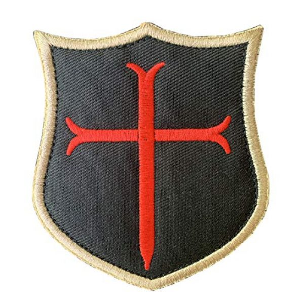 Antrix Airsoft Morale Patch 2 Antrix 3 Pieces Jerusalem Cross Crusader Order Holy Sepulchre Crusader Shield Emblem Patch and Crusader Knight Emblem Badge Patch Hook & Loop Tactical Military Morale Patches