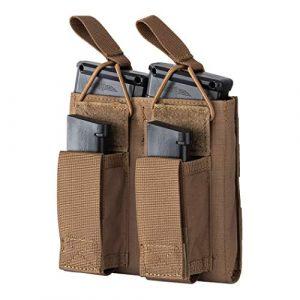 IDOGEAR Tactical Pouch 1 IDOGEAR Double Kangaroo Mag Pouch Tactical Molle Magazine Pouch Mag Carrier for M4 M16 AK AR Magazine Glock M1911 92F 9mm .40 S&W .45 ACP Magazines 500D Nylon