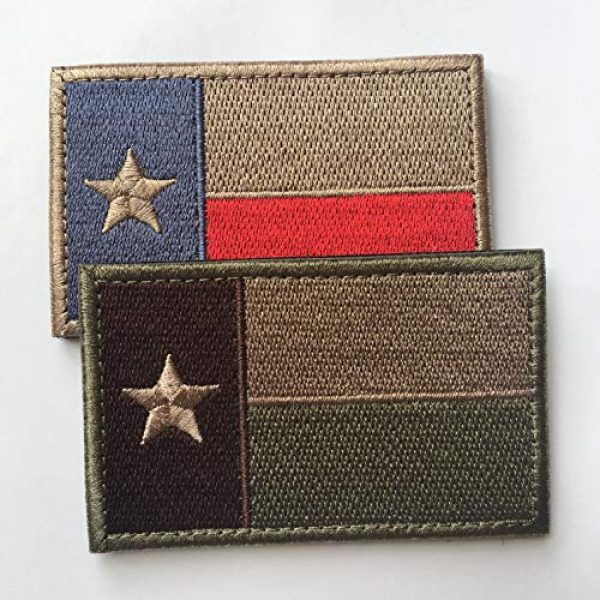 """Hng Kiang Hu Airsoft Morale Patch 3 Bundle 2 Pieces - Tactical American US Texas State Lonely Star Flag Patch Morale Patch-Hook & Loop Fastener Morale 2"""" High by 3"""" Wide"""