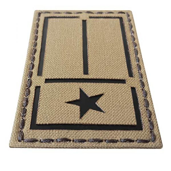 Tactical Freaky Airsoft Morale Patch 3 IR Coyote Tan Texas Lone Star Flag 2x3.5 IFF Tactical Morale Touch Fastener Patch
