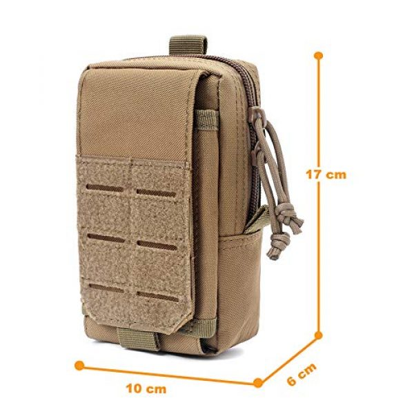 AegisTac Tactical Pouch 4 AegisTac Tactical Molle Phone Pouch EDC Utility Gadget Waist Bag Pack Cell Phone Case Smartphone Holster Bag for Hiking Bushcraft Survival