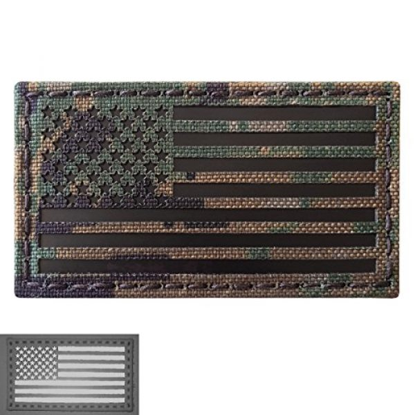 Tactical Freaky Airsoft Morale Patch 4 MARPAT Digital Woodland Infrared IR USA American Flag 3.5x2 IFF Tactical Morale Fastener Patch