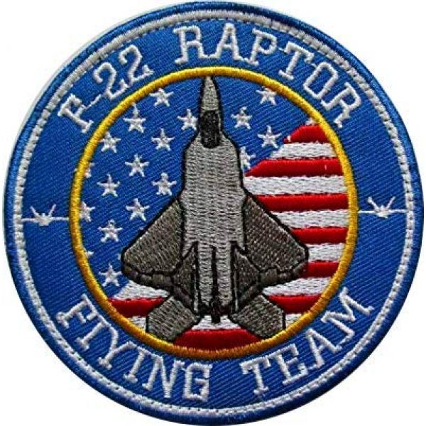 Embroidery Patch Airsoft Morale Patch 1 US F-22 Raptor Demo Team F22 AIR Force Stealth Fighter Military Hook Loop Tactics Morale Embroidered Patch