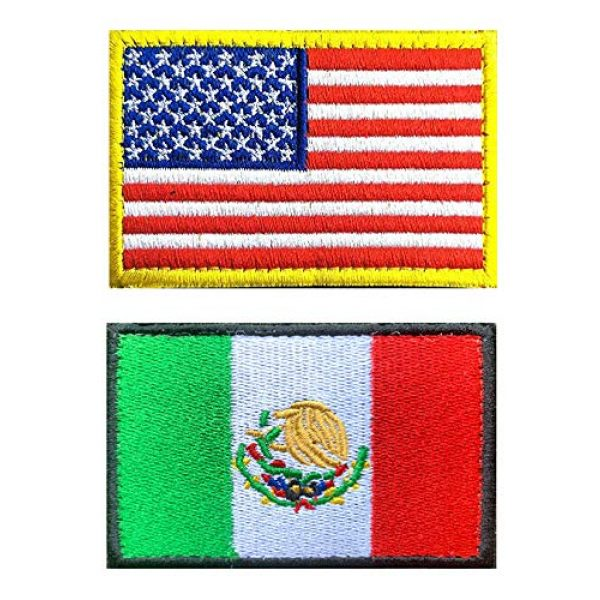 Antrix Airsoft Morale Patch 1 US Flag Mexican Flag Patch, Antrix 2 Pack Military Tactical Morale American Flag Mexico Flag Patches