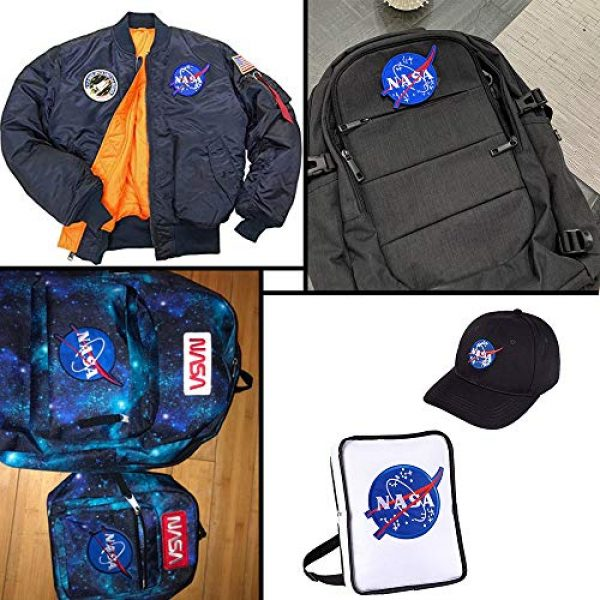 CN11011 Airsoft Morale Patch 6 6 Pieces NASA Patches Hook and Loop Backing Tactical Us Flag NASA Logo 100th Space Shuttle Mission with Sew On Morale Lot Military Embroidered Patches Tactical Flag Patch