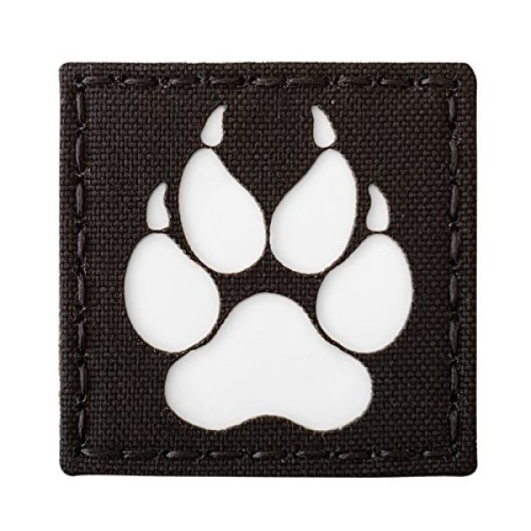 Tactical Freaky Airsoft Morale Patch 1 K9 Handler Dog Paw 2x2 GITD Tactical Morale Fastener Patch