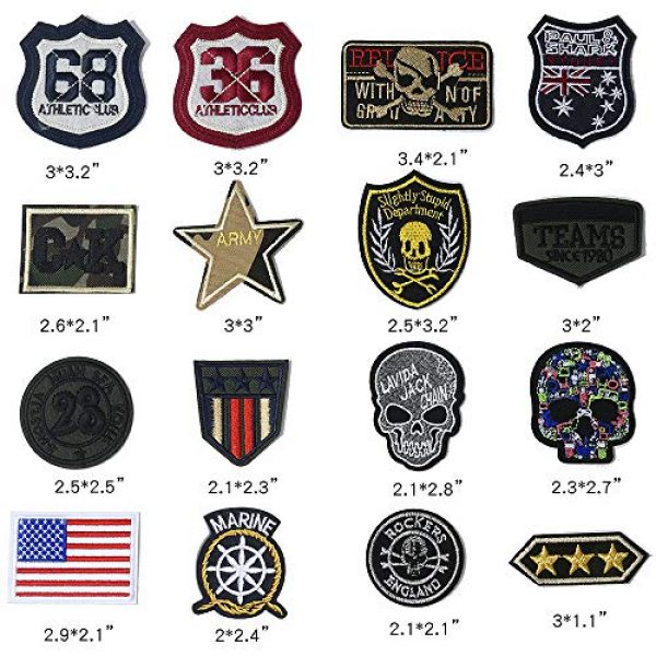 Embro4U Airsoft Morale Patch 3 25 Pcs Iron On Tactical Patches, Assorted Morale Military Sew On Patches, Embroidered Combat Skeleton Applique for Motorcycle Biker Vest, Operator Cap, Cosplay, Airsoft and Paintball