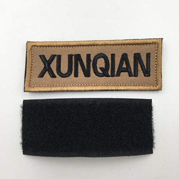 XUNQIAN Airsoft Morale Patch 3 XUNQIAN American Dog Tracker Paw Embroidered Applique Morale Hook & Loop Patch