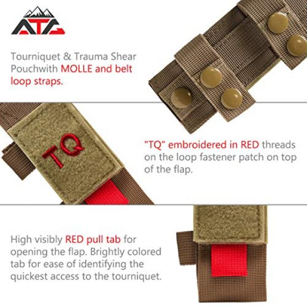 ATG Tactical Pouch 2 ATG Tactical Tourniquet & Trauma Medical Shear Pouch MOLLE PALS Duty Belt Loop EMT EMS