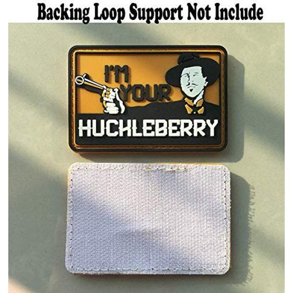 Zhikang68 Airsoft Morale Patch 5 I'm Your Huckleberry PVC Patch Funny Tactical Morale Hook & Loop Badg Armband Emblem for Clothes Caps Jackets with Hook Backing