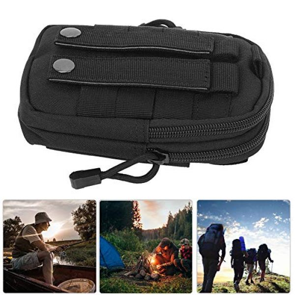 Alomejor Tactical Pouch 6 Alomejor Tactical Waist Bag Portable Multipurpose Military Utility Pouch Gadget Belt Waist Bag Nylon Pocket Pouch for Sports Travel Hiking Running Cycling Camping
