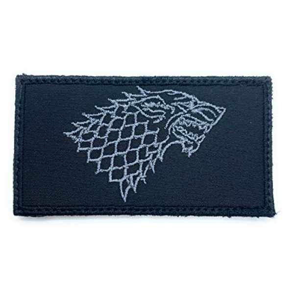 Almost SGT Airsoft Morale Patch 1 House Stark Game of Thrones Logo - Funny Tactical Military Morale Embroidered Patch Hook Backing