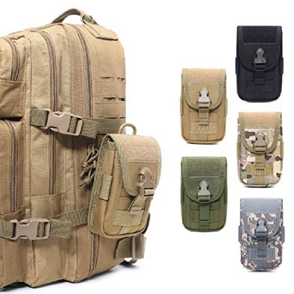 TRIWONDER Tactical Pouch 6 TRIWONDER Tactical MOLLE Holster Army Mobile Phone Belt Pouch EDC Security Pack Carry Accessory Kit Waist Bag Case Cellphone Holster