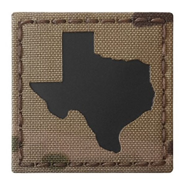 Tactical Freaky Airsoft Morale Patch 6 Texas Multicam Infrared IR 2x2 Tactical Morale Hook&Loop Patch