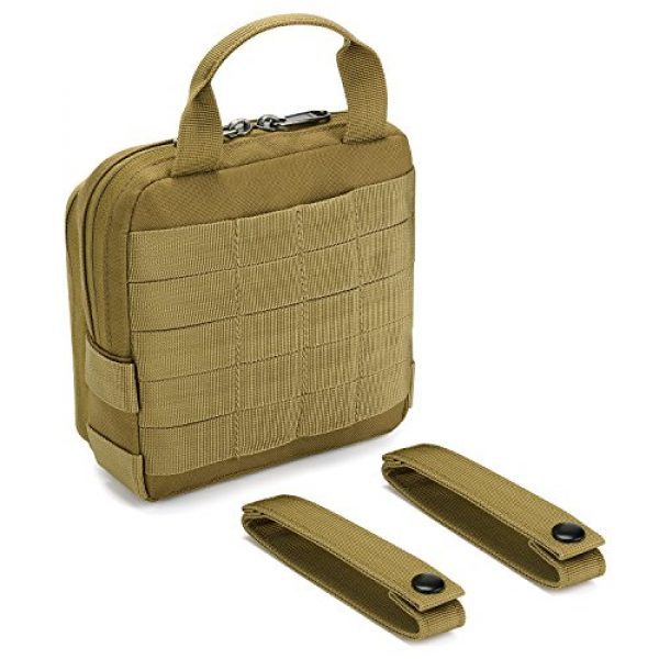 Barbarians Tactical Pouch 5 Barbarians Tactical Admin Pouch, MOLLE Military Tool Map Bag Organizer