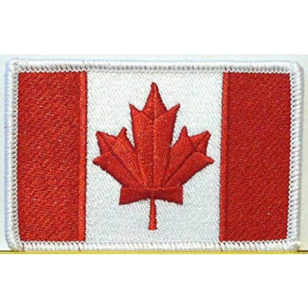 Fast Service Designs Airsoft Morale Patch 1 Canada Stargate Version Flag Patch with Hook and Loop Patriotic Morale Canadian Shoulder Emblem White Border Version #42