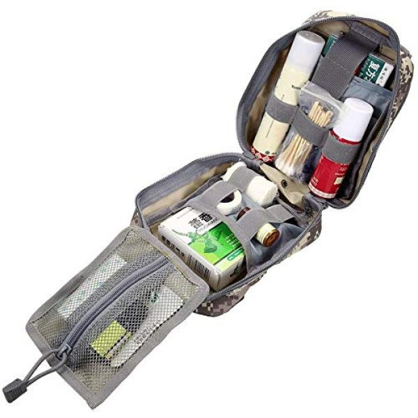 ACOMOO Tactical Pouch 6 ACOMOO Medical Emergency IFAK Life-Saving Bag Outdoor Medical kit Mountaineering/Rescue kit Made of 600D Waterproof Fabric