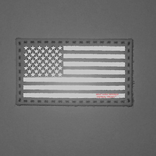 Tactical Freaky Airsoft Morale Patch 2 Coyote Brown Tan Infrared IR USA American Flag 3.5x2 IFF Tactical Morale Touch Fastener Patch