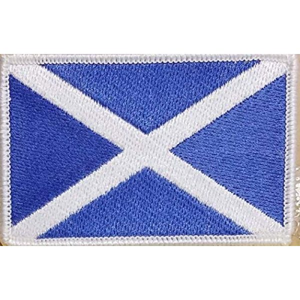 Fast Service Designs Airsoft Morale Patch 1 Scotland Flag Patch with Hook & Loop Tactical Morale Cross Emblem The Saint Andrew's Cross White Border