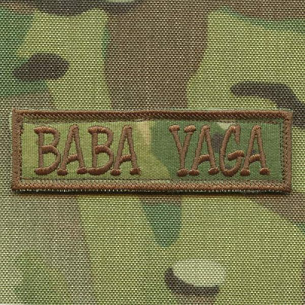 LEGEEON Airsoft Morale Patch 1 LEGEEON Multicam Baba Yaga 1x3.5 Morale Tactical USA Army Military Fastener Cap Patch