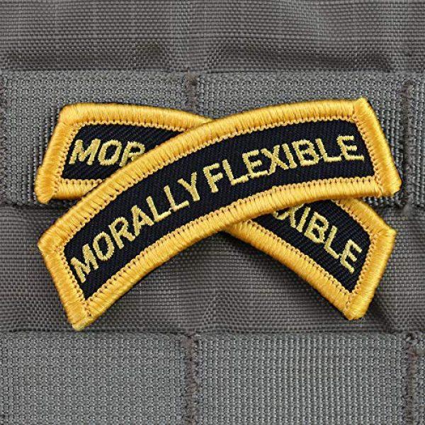 """Violent Little Machine Shop Airsoft Morale Patch 3 """"Morally Flexible"""" Morale Patch by Violent Little Machine Shop - Velcro"""