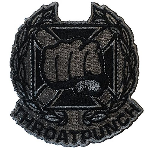 F-Bomb Morale Gear Airsoft Morale Patch 1 Throat Punch Qualification Badge - Embroidered Morale Patch (SWAT)