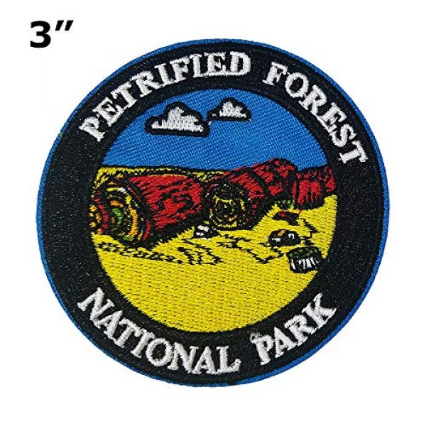 """Appalachian Spirit Airsoft Morale Patch 2 Petrified Forest National Park 3"""" Embroidered Patch DIY Iron or Sew-on Decorative Vacation Travel Souvenir Applique Wander Nature Wildlife Hike Trek Camping Explore Mountains Stars Moon Sun Sky Trails"""