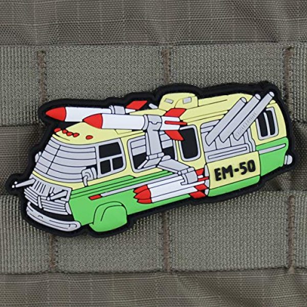 Violent Little Machine Shop Airsoft Morale Patch 2 'Stripes EM-50' Morale Patch by Violent Little Machine Shop - Velcro Backed PVC