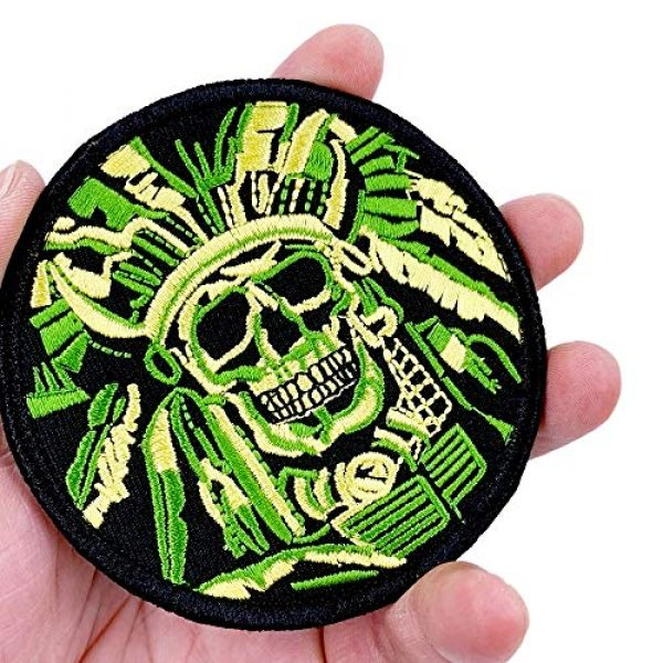 JumpyFire Airsoft Morale Patch 3 JumpyFire Tactical Skull Velcro Patch, 2 PCS Embroidered Military Morale Patches for Backpack Hat Jacket Jeans Uniform