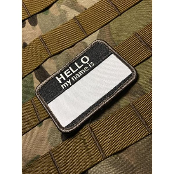 """Empire Tactical USA Airsoft Morale Patch 2 The 2.5 x 2"""" Hello My Name is (Hook/Loop) Military Morale Patch"""