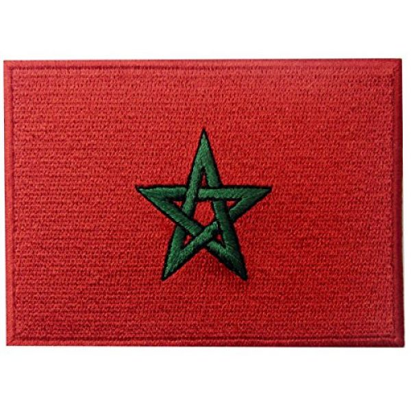 EmbTao Airsoft Morale Patch 1 Morocco Flag Embroidered Patch Moroccan Iron On Sew On National Emblem
