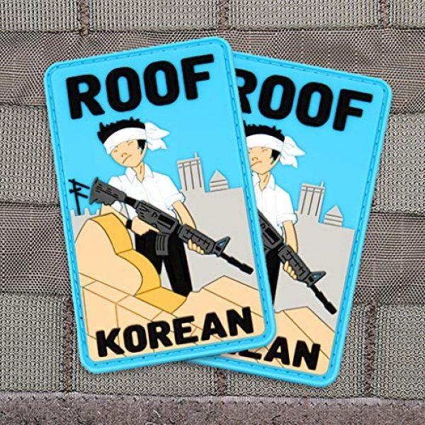 """Violent Little Machine Shop Airsoft Morale Patch 4 """"Roof Korean"""" Morale Patch by Violent Little Machine Shop - Tactical Velcro PVC"""