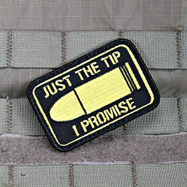 """Violent Little Machine Shop Airsoft Morale Patch 3 """"Just The Tip I Promise"""" Morale Patch by Violent Little - Embroidered Velcro"""