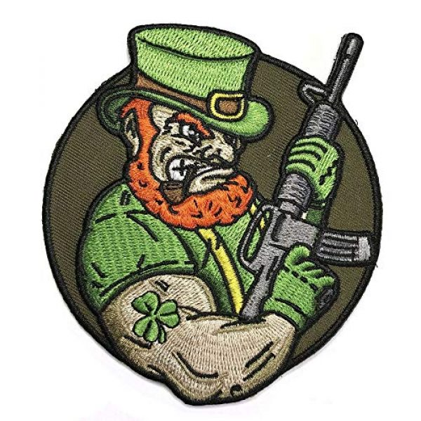 Honchosfx Airsoft Morale Patch 1 Angry Leprechaun AR-15 Embroidered Patriotic Irish Tactical Morale Patch