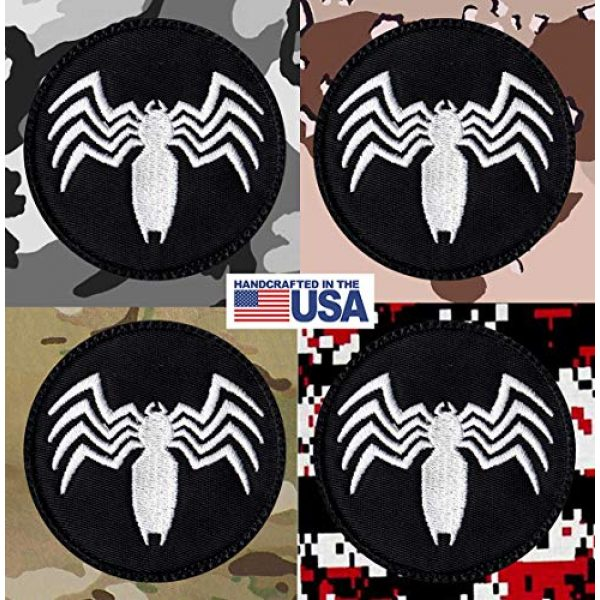 Tactical Patch Works Airsoft Morale Patch 4 Venom Spider Shape Logo Patch
