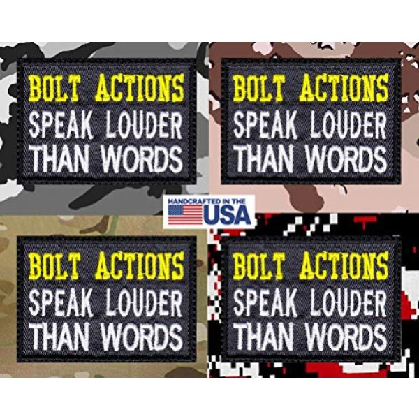 Tactical Patch Works Airsoft Morale Patch 4 Bolt Actions Speak Louder Than Words Patch