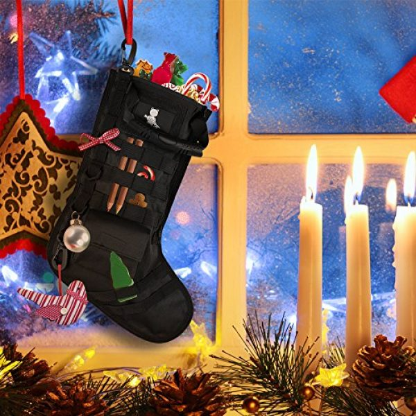 AIRSOFTPEAK Tactical Pouch 2 AIRSOFTPEAK Tactical Christmas Stocking Bag Design, Christmas Decoration Gift, Military with Molle Gear Webbing for Outdoor Hunting Shooting