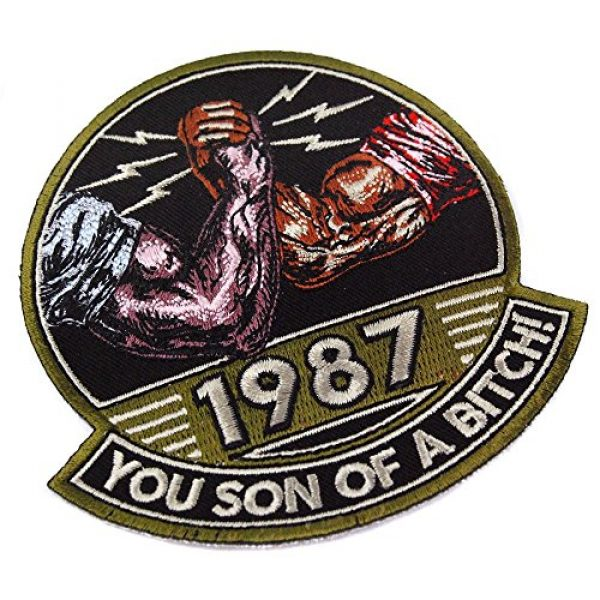 Honchosfx Airsoft Morale Patch 3 You Son of a Bitch! 1987 Embroidered Patch