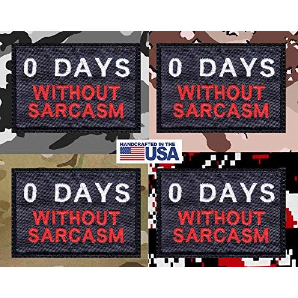 Tactical Patch Works Airsoft Morale Patch 4 Zero 0 Days Without Sarcasm Patch