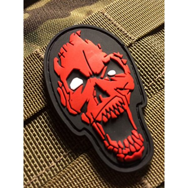Britkit Airsoft Morale Patch 2 Us Made 3d PVC Zombie Head Patch Tactical Morale Patch