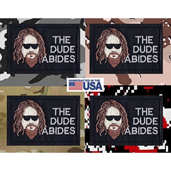 Tactical Patch Works Airsoft Morale Patch 4 Big Lebowski The Dude Abides Patch