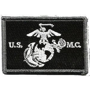 Gadsden and Culpeper Airsoft Morale Patch 1 USMC Tactical Patch - Black & White