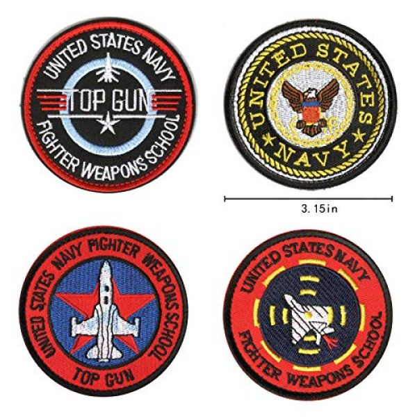 WZT Airsoft Morale Patch 3 WZT 11 Pieces TOP Gun Tactical Morale Military Patch United States Navy Fighter Weapons School, American Flag, CV-61 USS Ranger 100 Centurion, Tom Cat, Pete Mitchell Maverick, VX-31, VF-1 Embroidered