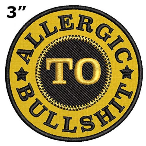 Appalachian Spirit Airsoft Morale Patch 2 Funny Allergic to Bullshit Applique Fastener Iron/Sew On Military Emblem Badge Morale Patch for Backpacks Caps Hats Bags Collection