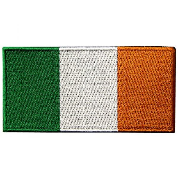 EmbTao Airsoft Morale Patch 1 Republic of Ireland Flag Embroidered Irish National Emblem Iron On Sew On Patch